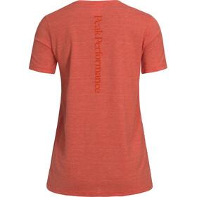 Peak Performance Track SS Tee Women Orange Flow